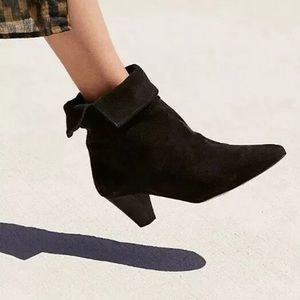 Free People Adella Heel Bootie Suede Ankle Boot 39